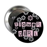 Flower Girl (black) Button