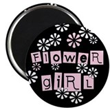 Flower Girl (black) Magnet