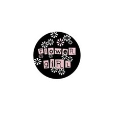 Flower Girl (black) Mini Button