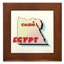 Egypt Map Framed Tile