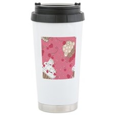 seamless cupcake patter Travel Mug