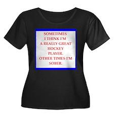 hockey Plus Size T-Shirt