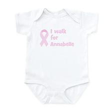 Walk for Annabelle Infant Bodysuit