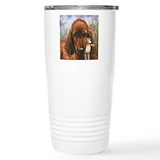 Irish Setter Pup by Daw Travel Coffee Mug