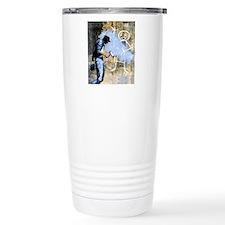 Banksy Graffiti Stick F Thermos Mug