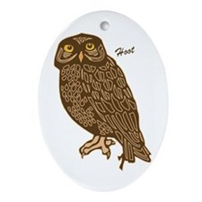 Hoot Owl Oval Ornament