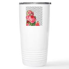FLORAL CHEVRON Travel Mug