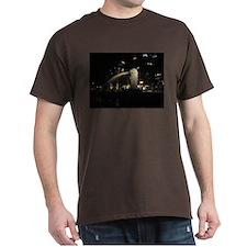 The Singapore Merlion At Night T-Shirt
