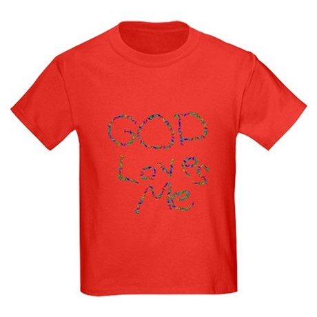 God Loves Me Kids Dark T-Shirt