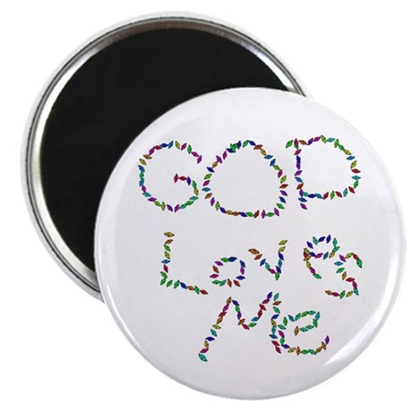 "God Loves Me 2.25"" Magnet (100 pack)"