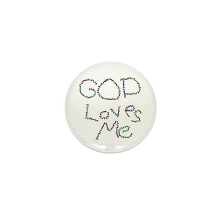 God Loves Me Mini Button (10 pack)
