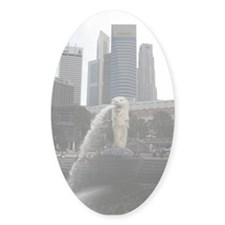 The Singapore Merlion Oval Decal