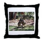 Kangaroo Mum Throw Pillow