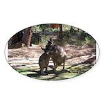 Kangaroo Mum Oval Sticker
