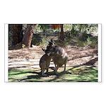 Kangaroo Mum Rectangle Sticker