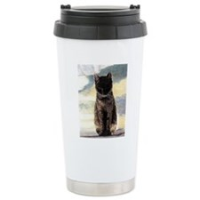 Contemplation Tabby Cat Travel Mug