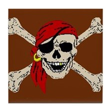 Pirate Skull Tile Coaster
