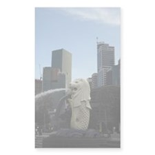 The Singapore Merlion 2 Rectangle Decal