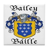 Bailey in Irish/English Tile Coaster