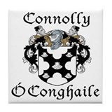 Connolly in Irish/English Tile Coaster