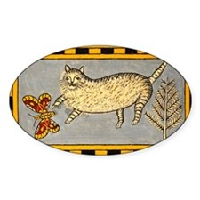 Folk Art Cat Decal
