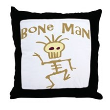 Bone Man Throw Pillow