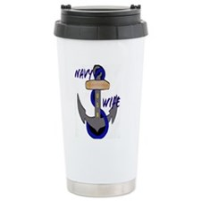 Navy wife with anchor Travel Mug