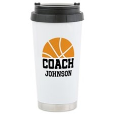 Personalized Basketball Coach Gift Travel Mug