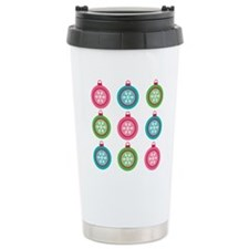 Christmas Ball Holiday Pattern Travel Mug