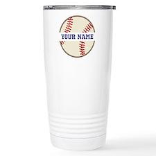 Personalized Baseball Sports Travel Mug