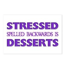 Stressed Desserts Postcards (Package of 8)