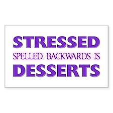 Stressed Desserts Rectangle Sticker