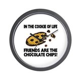 Chocolate Chip Friends Wall Clock