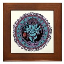 Ganesh Dancer Framed Tile