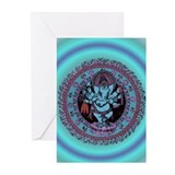 Ganesh Dancer Greeting Cards (Pk of 10)