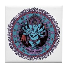 Ganesh Dancer Tile Coaster