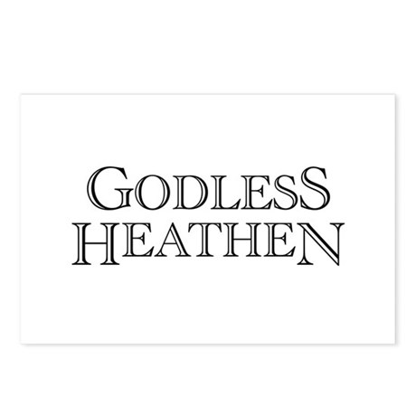 Godless Heathen Postcards (Package of 8)