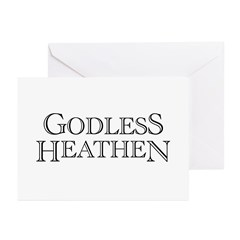 Godless Heathen Greeting Cards (Pk of 10)