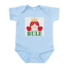 Red Heads Rule Pink Infant Bodysuit Onesie