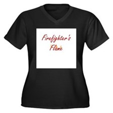 Firefighter Wife or Girlfrien Women's Plus Size V-
