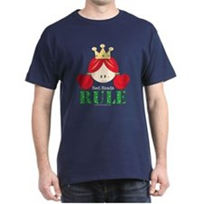 Red Heads Rule Navy Blue T-shirt