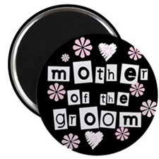 Mother of Groom (black) Magnet