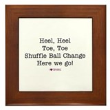 Heel, Heel, Toe, Toe Framed Tile