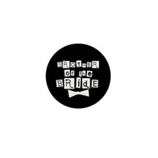 Brother of Bride(black) Mini Button