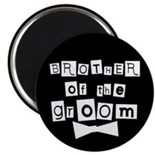 Brother of Groom (black) Magnet