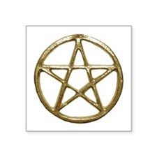 Gold Pentacle Sticker