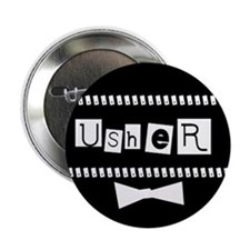 Usher (black) Button