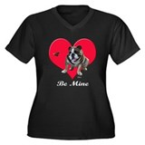 An English Bulldog Valentine Women's Plus Size V-N