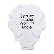 I Get My Muscles From My Uncle Body Suit