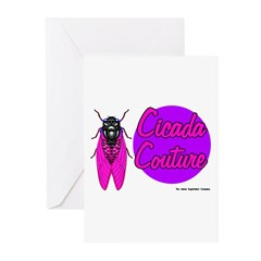 Cicada Couture P07 Greeting Cards (Pk of 10)